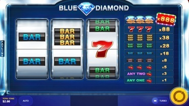 blue diamonds slot