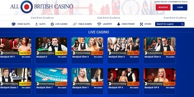 ▷ All British Online Casino Live Dealers
