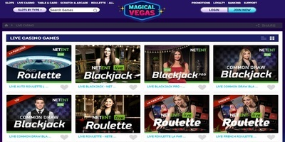 ▷ Magical Vegas Online Casino Live Dealers
