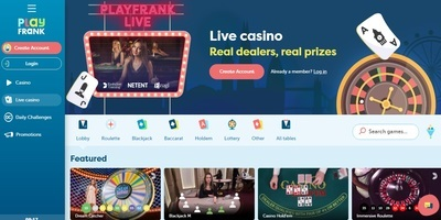 ▷ Play Frank Online Casino Live Dealers