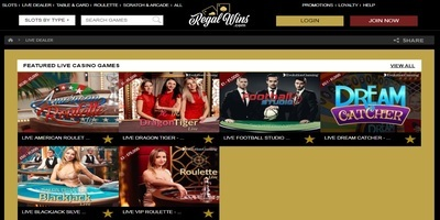▷ Regal Wins Online Casino Live Dealers