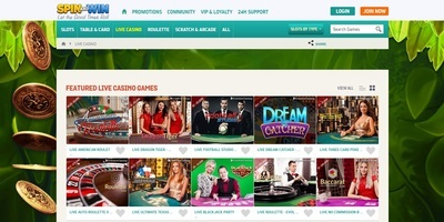 ▷ Spin and Win Online Casino Live Dealers
