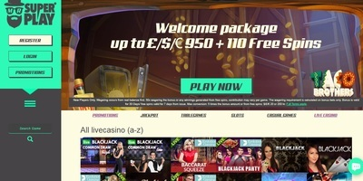 ▷ Mr. SuperPlay Online Casino Live Dealers