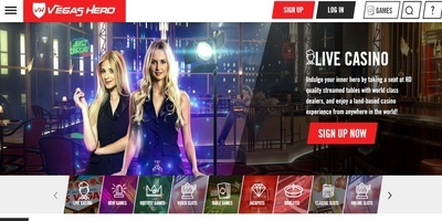 ▷ Vegas Hero Online Casino Live Dealers