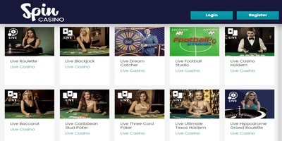 ▷ Spin Casino Live Dealers