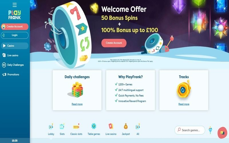 ▷ Play at Play Frank Online Casino