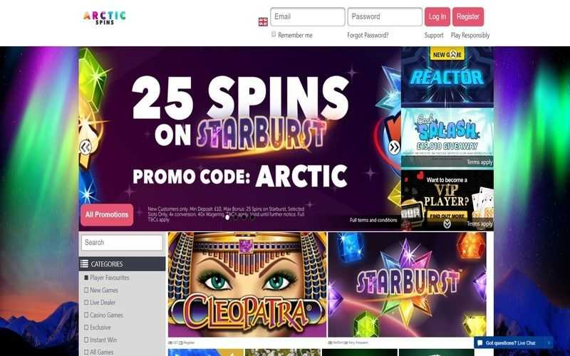 ▷ Play at Arctic Spins Online Casino
