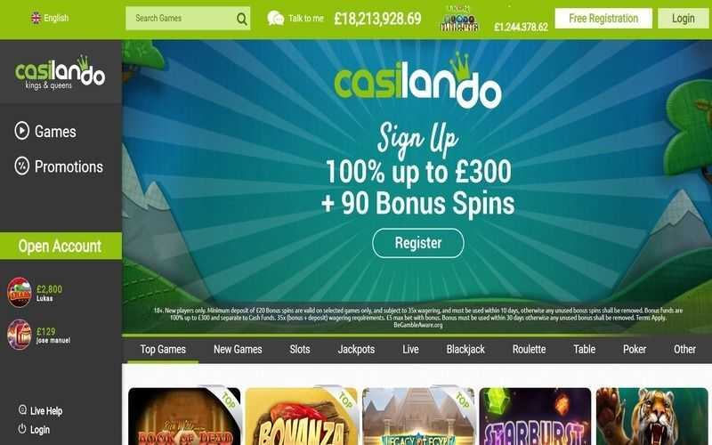 ▷ Play at Casilando Online Casino