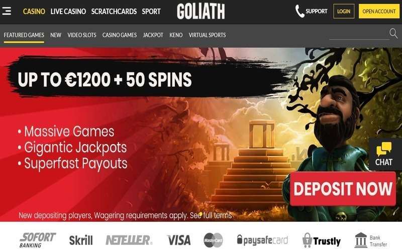 ▷ Play at Goliath Online Casino