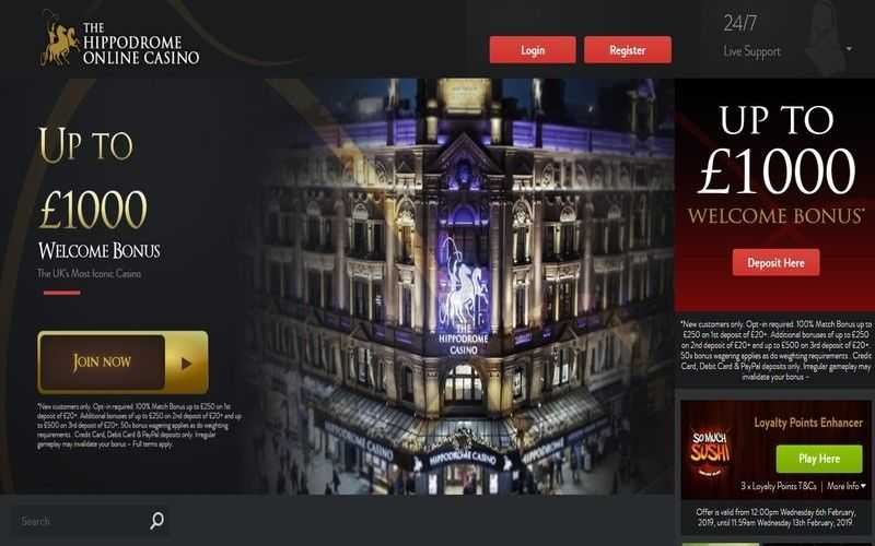 ▷ Play at Hippodrome Online Casino