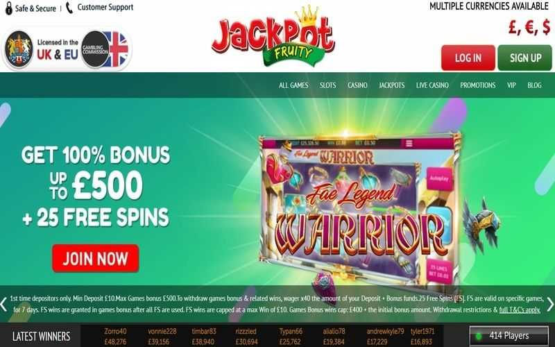 ▷ Play at Jackpot Fruity Online Casino