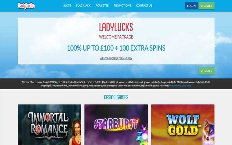 ▷ Play at Lady Lucks Online Casino