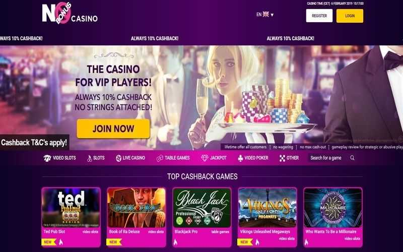 ▷ Play at No Bonus Online Casino