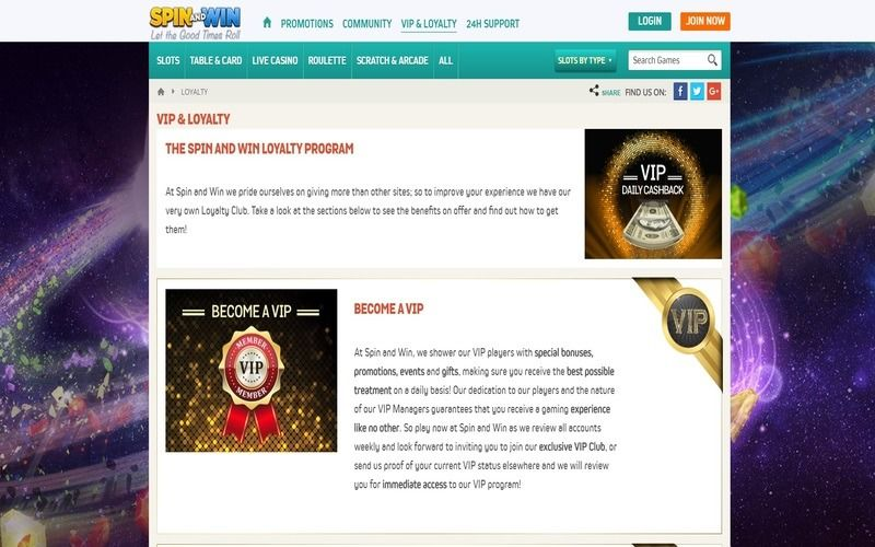 ▷ Play at Spin and Win Online Casino