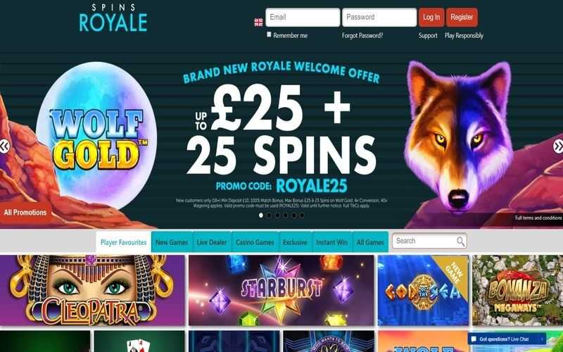 ▷ Play at Spins Royale Online Casino
