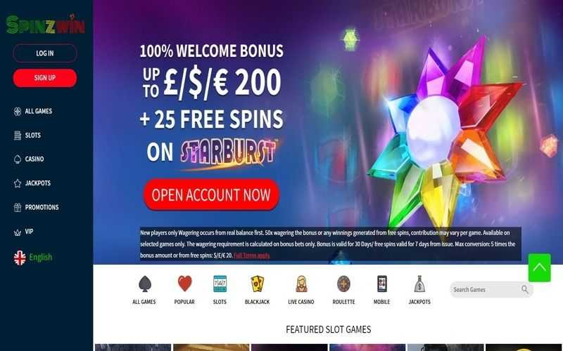 ▷ Play at SpinZWin Online Casino