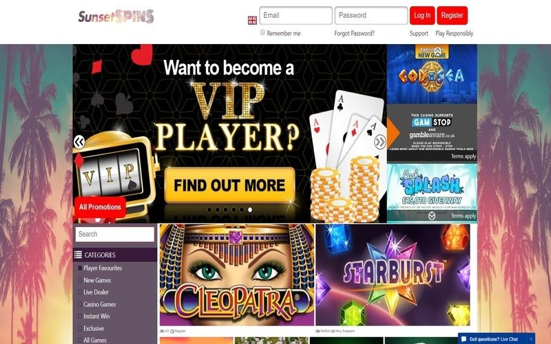 ▷ Play at Sunset SpinsOnline Casino