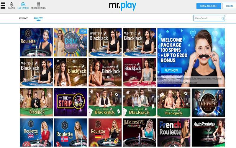 ▷ Play Evolution Gaming at Mr. Play Online Casino