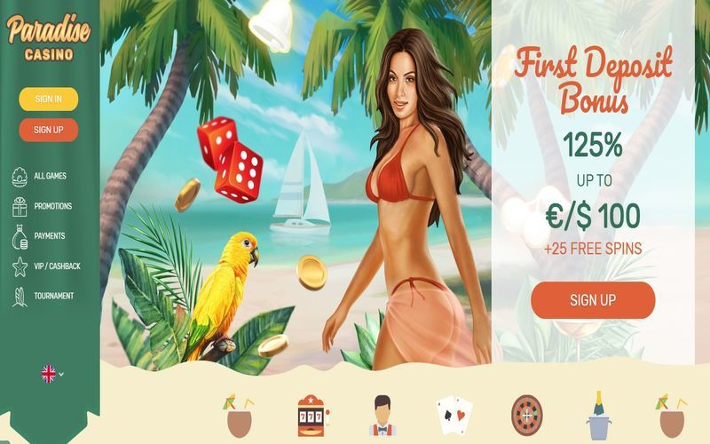▷ Play at Paradise Online Casino